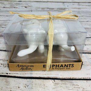 White Elephants Salt & Pepper Shakers Set